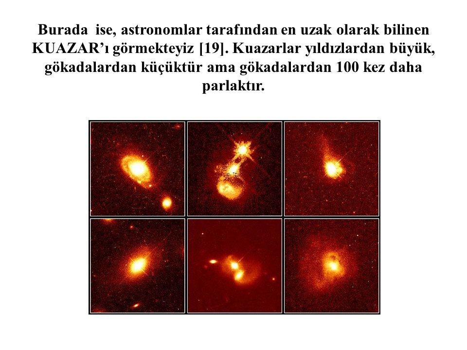 Burada ise, astronomlar tarafından en uzak olarak bilinen KUAZAR'ı görmekteyiz [19].